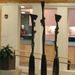 Modetn Sculpture in th SPA - are those shapes our weight goals?