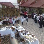 Restaurant terrace-harvest celebration