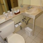 Clean bathroom but small