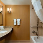 Guest room bath accessible