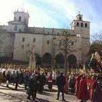 Palm Sunday procession and sermon