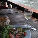 Lunch overlooking the reef at Kaveka