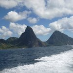 The view of the Pitons!