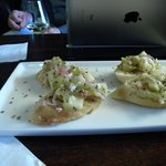 Bruschetta appetizer at the wine bar(n)