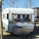  This caravan was not fit for habitation with its broken windows but was parked with tourers.