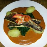  Pan fried Seabass with lobster sauce :-)