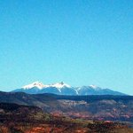 San Francisco Peaks from mtn top past Jerome