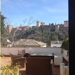  view of Alhambra from our room
