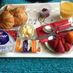 continental breakfast delivered to my room - yummy!