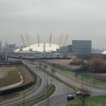  View of O2 from hotel corridor