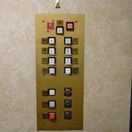 The old elevator panel.  I thought it was cute.