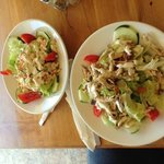 TEDDYS HIDEAWAY CHICKEN SALAD AND LOBSTER SALAD