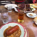 Bigos with sausage and Duck