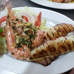 Grilled Kalamari & King Prawns