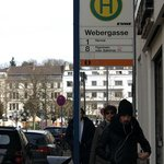 Webergasse stopping place from Central Station