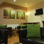 The guest lounge at Greetham Retreat holiday cottages in Lincvolnshire Wolds