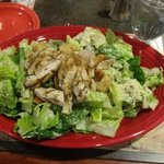 chicken caesar salad from the restaurant hotel. delish!