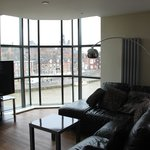 15 Merchant Exchange, Riverside Apartment - Lounge area & river view
