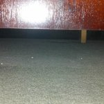  Dirt and used tooth paste tube under dresser
