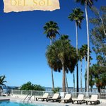 Beso Del Sol Resort has two pools with St. Joseph Sound views.