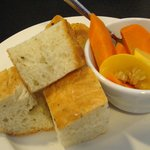 Complimentary Herb Focaccia and Pickled Vegetables