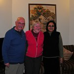 John and Chris with Meera