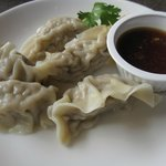 Steamed Chicken Dumplings with Dipping Sauce