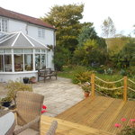 Decking in garden
