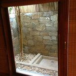  Outdoor shower in room 112 on ground floor