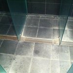 The floor in the shower of the spa