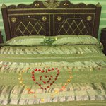  Bed decorated with flowers
