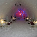 Ice Hotel dining room