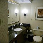 Very nice bathroom with amenities & blow dryer