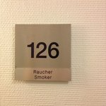 The placard to our supposedly non-smoking room