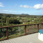 Large deck with hot tub, beautiful views of mounta