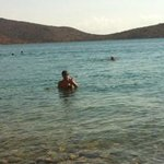 swimming in the sea at hotel's beach