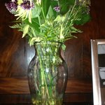 Living room flowers in need of replacement or fresh water
