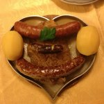  3 sausages and boiled potatoes
