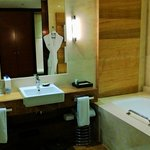  Bathroom is spacious with separate bath and shower
