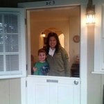  my wife and son.... love the French door!