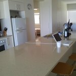  kitchen area with enormous island counter