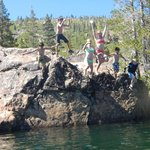  Cliff Jumping at Salmon Lake-Guests of Gray Eagle Lodge