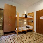Dorm bunks with reading lights and large individual lockable wardrobes!