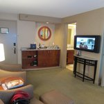 Living Area - minibar and TV area