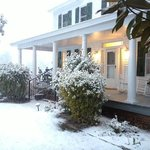front porch in snow