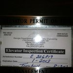 The expired elevator inspection will try a better pic