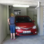 'limited' parking - how do you open the car doors?