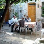 The courtyard of the coziest, most comfortable and intimate Bed and Breakfast in Safed, Israel