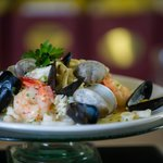 Seafood Risotto with champaign sauce