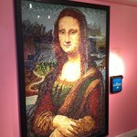 Mona Lisa made out of Jelly Beans